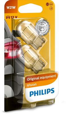 Bild von Glassockel W21W [12V] (2 Stk.) von PHILIPS   1080-2767
