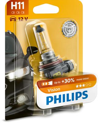 Bild von Glühlampe H11 Vision 55W [12V] (1 Stk.) von PHILIPS   1080-2738