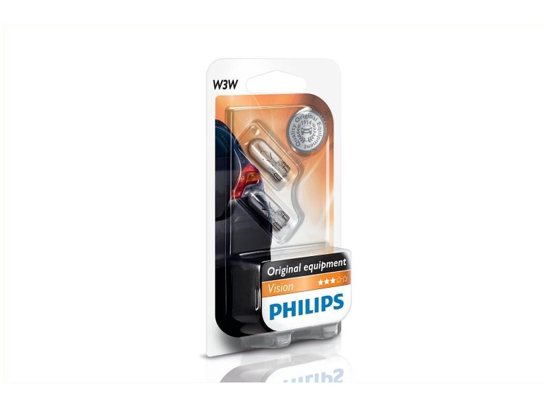 Bild von Glassockel W3W [12V] (2 Stk.) von PHILIPS   1080-2761